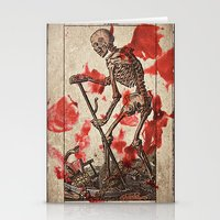tarot Stationery Cards featuring Death Tarot by Bedlam Supply Co.