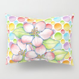 Apple Blossom Polka Dots Pillow Sham