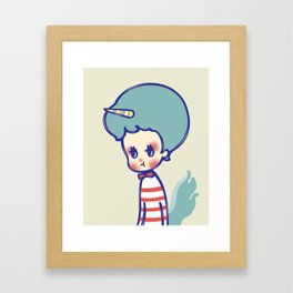 why are you angry? Framed Art Print
