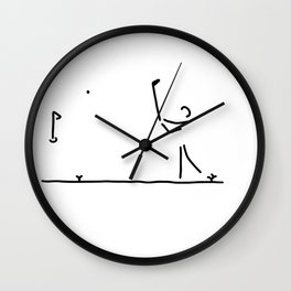 golfer to golfs beat off Wall Clock