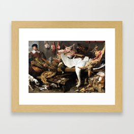 Franz Snyder A Game Stall Framed Art Print