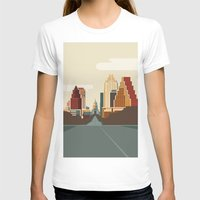 austin T-shirts featuring Austin Skyline by Kurtis Beavers