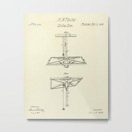 Clothes Drier-1859 Metal Print