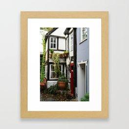 Hanseatic town Bremen - Schnoor Viertel Framed Art Print