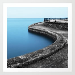 Calm Seas at Scarborough Art Print