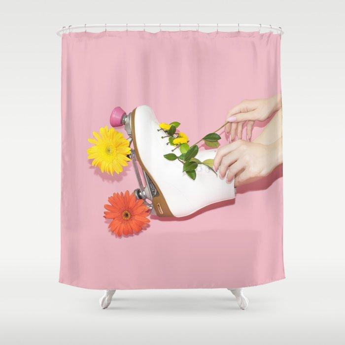 Spring Roll Shower Curtain By Lizziedarden Society6