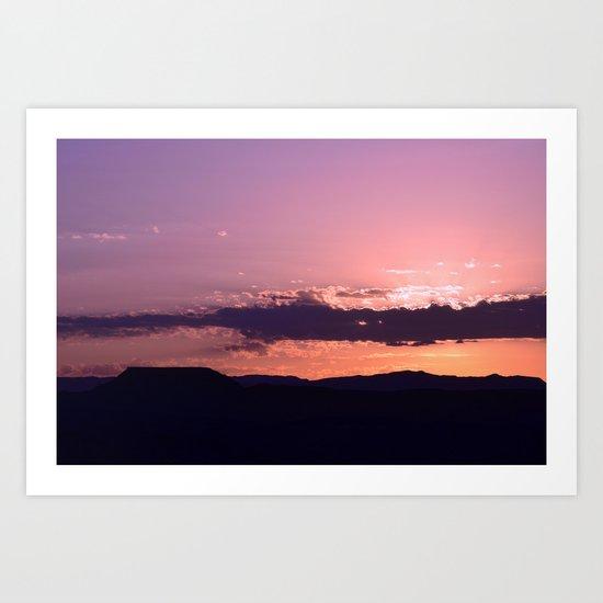 Southwest Sunrise - III Art Print