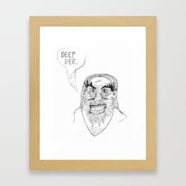 DEEP V Framed Art Print