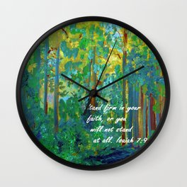 Stand Firm in Your Faith Wall Clock