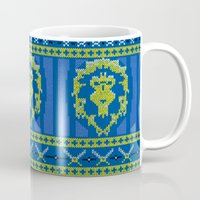 warcraft Mugs featuring Ugly Sweater 1 by SlothgirlArt
