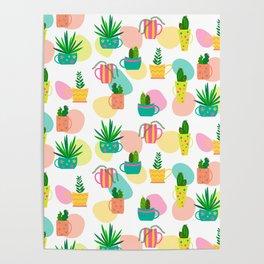 Pastel Cacti Poster
