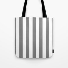Vertical Stripes (Gray/White) Tote Bag