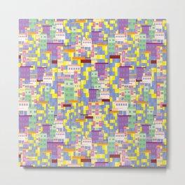 Building Pixel Blocks Metal Print