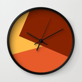 Brown Ombre Shapes Wall Clock