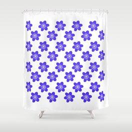 Flower Anemone Hepatica, small Shower Curtain