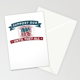 Support Our Troops American Patriotic Veteran Stationery Cards