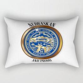 Nebraska Proud Flag Button Rectangular Pillow