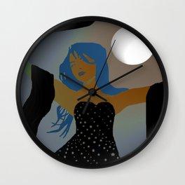 Moon Goddess of Dark Wall Clock