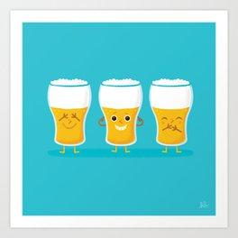 THREE WISE PINTS Art Print