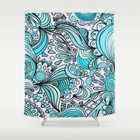 crystal Shower Curtains featuring Crystal by DuckyB