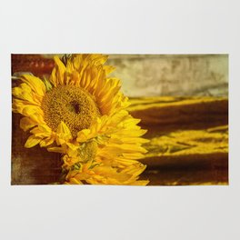 You Are My Sunshine -- Sunflower Botanical Still Life Rug