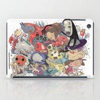 hayao miyazaki iPad Cases featuring Hayao Miyazaki by Kensausage