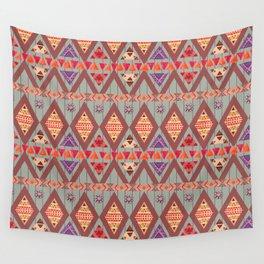 Winter Marsala Tribal Design Wall Tapestry