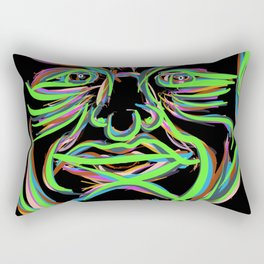 Neon Man Rectangular Pillow