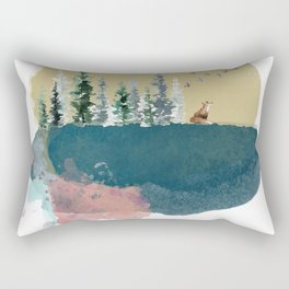 Forest on the moon... Rectangular Pillow