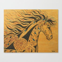 Tribal Spirit Horse Canvas Print