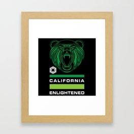 California Enlightened Bear Flag Framed Art Print