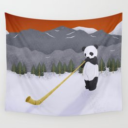 WINTER PANDA Wall Tapestry