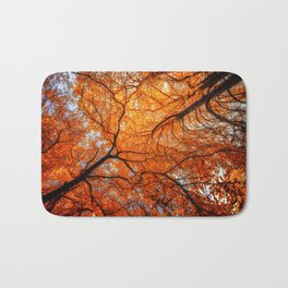 Sky Roots in Forest Red Bath Mat