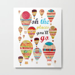 Oh The Places You'll Go, Print Metal Print