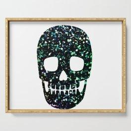 glitter skull Serving Tray