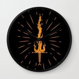 Fire sword Wall Clock