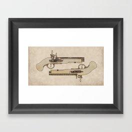 Flintlocks Framed Art Print