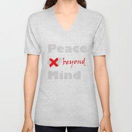 Peace beyond mind Unisex V-Neck