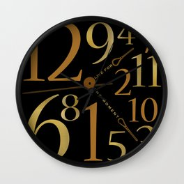 Live For The Moment Wall Clock