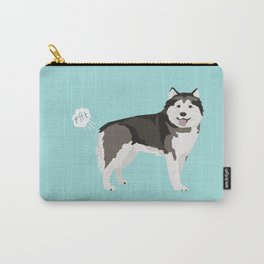 Alaskan Malamute funny fart dog breed gifts Carry-All Pouch