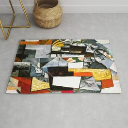 Desk And Room by Kazimir Malevich - Vintage Painting Rug