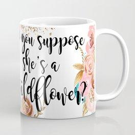 Blush and gold wildflower Coffee Mug