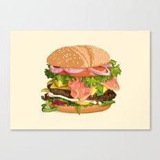 Tasty burger Canvas Print
