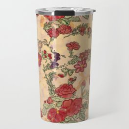 Project 397 | Red Roses on Gold Travel Mug