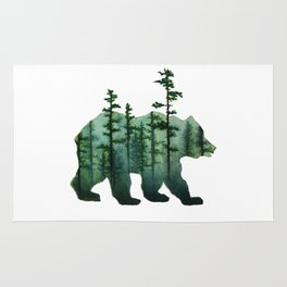 Bear and Forest Rug