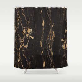 Real Marble Oro Shower Curtain