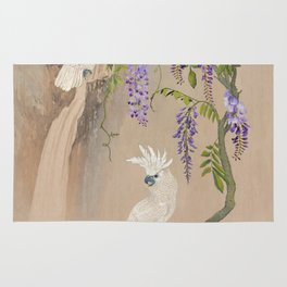 Cockatoos and Wisteria Rug