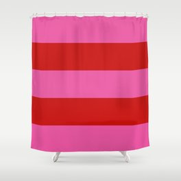Valentines Day Wide Horizontal Stripes #1 Shower Curtain