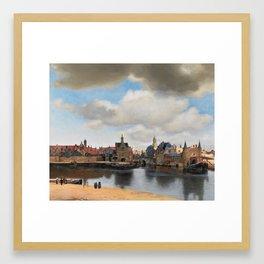 View of Delft, by Johannes Vermeer Framed Art Print