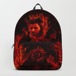Lucifer in flames Backpack